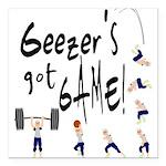 Geezer's Got Game! Square Car Magnet 3
