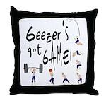 Geezer's Got Game! Throw Pillow