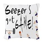 Geezer's Got Game! Woven Throw Pillow
