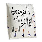Geezer's Got Game! Burlap Throw Pillow