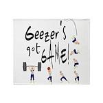 Geezer's Got Game! Throw Blanket