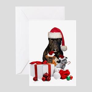 Christmas Cane Corso Greeting Cards