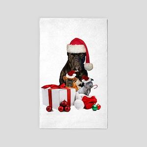 Christmas Cane Corso Area Rug