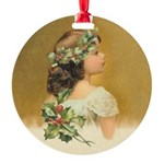 Holly Girl Ornament