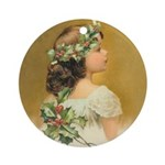 Holly Girl Ornament (Round)