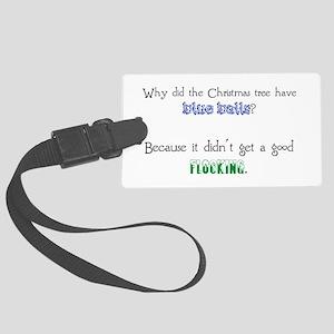 Christmas Joke: Blue Balls/Flocking Luggage Tag