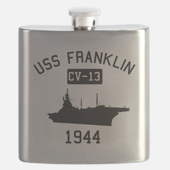 USS Franklin Classic Flask
