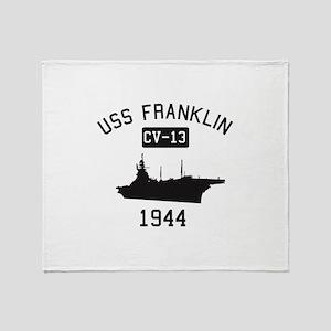 USS Franklin 1 Throw Blanket