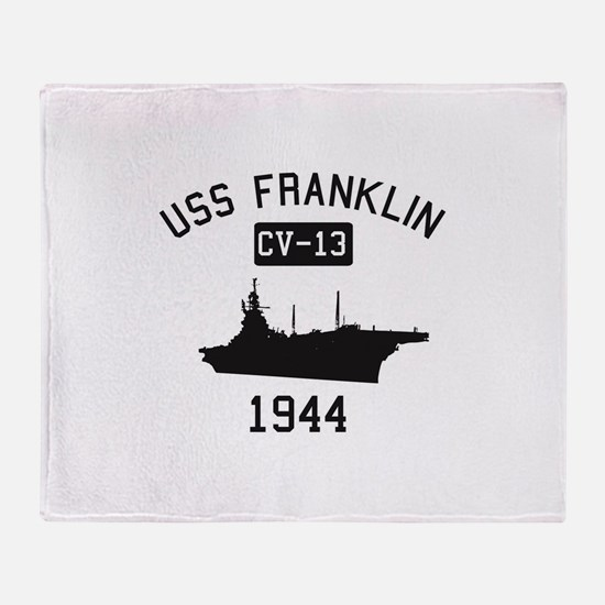 USS Franklin 1 Throw Blanket