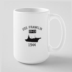 USS Franklin 1 Mugs