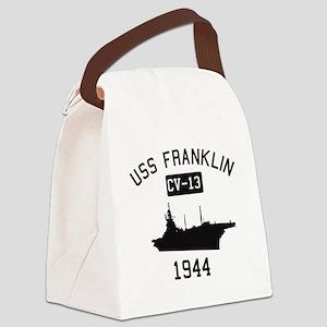 USS Franklin 1 Canvas Lunch Bag