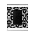 Personalizable Initial Black Damask Picture Frame