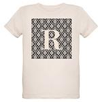 Personalizable Initial Black Damask T-Shirt