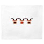 Red Nosed Reindeer Friends King Duvet
