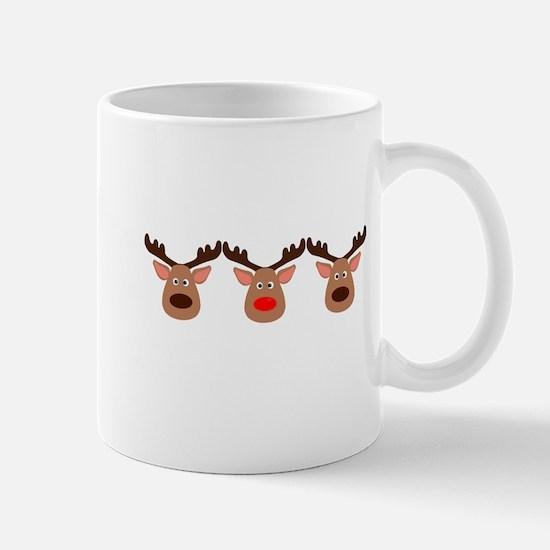 Red Nosed Reindeer Friends Mugs