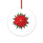 Poinsettia Ornament (round)