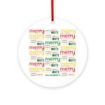Merry Merry Ornament (Round)