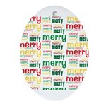 Merry Merry Ornament (Oval)