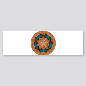 Coral Starfish Wreath with Turquois Bumper Sticker