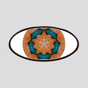 Coral Starfish Wreath with Turquoise Cente Patches