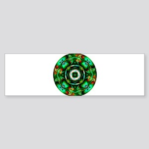 Glowing Nighttime Flower Garden Bumper Sticker