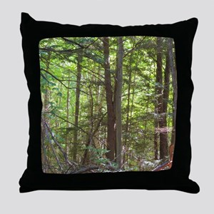 Scenery Of Trees Throw Pillow