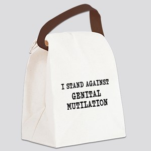 against mutilation Canvas Lunch Bag