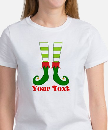 Personalizable Funny Elf Feet T-Shirt