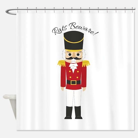 Rats Beware Shower Curtain