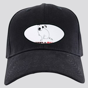 White Pitbull Puppy Adopt-a-Bull Black Cap