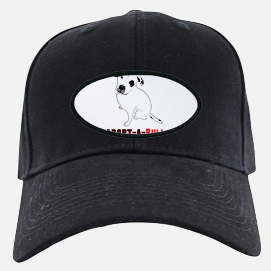 White Pitbull Puppy Adopt-a-Bull Baseball Hat