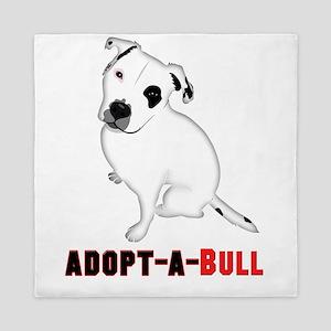 White Pitbull Puppy Adopt-a-Bull Queen Duvet
