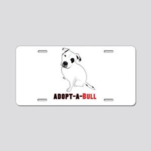 Pit Bull Adoption Aluminum License Plates Cafepress