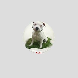 Smiling Pitbull Adopted Mini Button