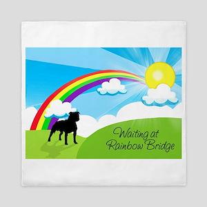 Rainbow Bridge fot Pitbulls copy Queen Duvet