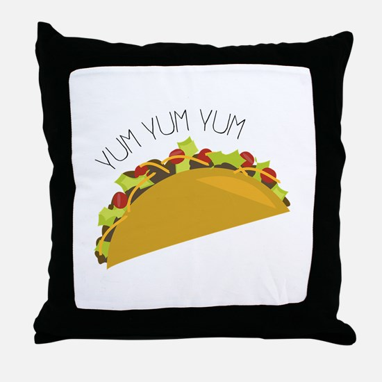 Yum Yum Throw Pillow