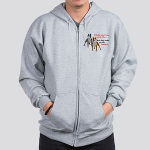 Pitbulls Make Life Whole Zip Hoodie