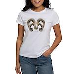 4 Horn Sheep Skull Women's T-Shirt