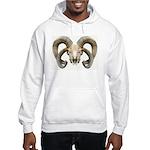 4 Horn Sheep Skull Hooded Sweatshirt