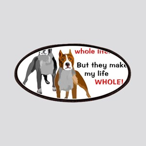 Pitbulls Make Life Whole Patches