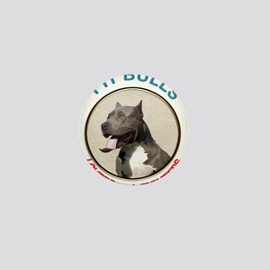 Pit Bull Lovers not Fighters Mini Button