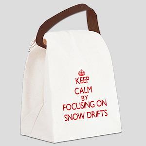 Keep Calm by focusing on Snow Dri Canvas Lunch Bag