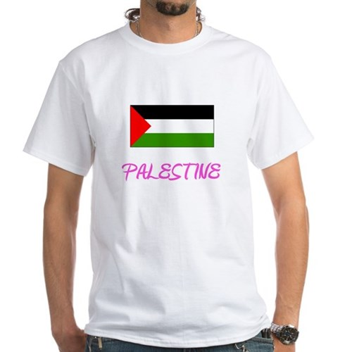 Palestine Flag Artistic Pink Design T-Shirt