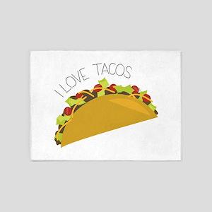 Love Tacos 5'x7'Area Rug