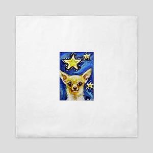 Cute Chihuahua Stars Queen Duvet