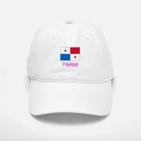 Panama Flag Artistic Pink Design Baseball Baseball Cap