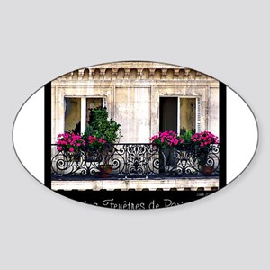 Parisian Window & Balcony Sticker