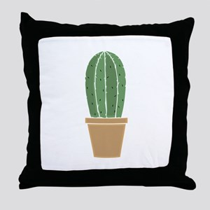 Potted Cactus Throw Pillow