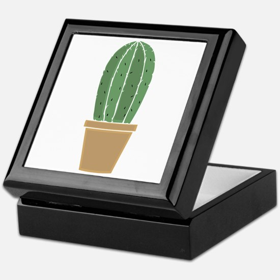 Potted Cactus Keepsake Box