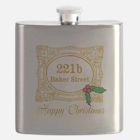 Baker Street Christmas Flask